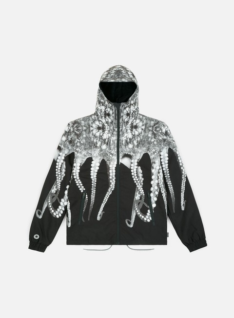 giacche octopus octopus fur windbreaker real grey