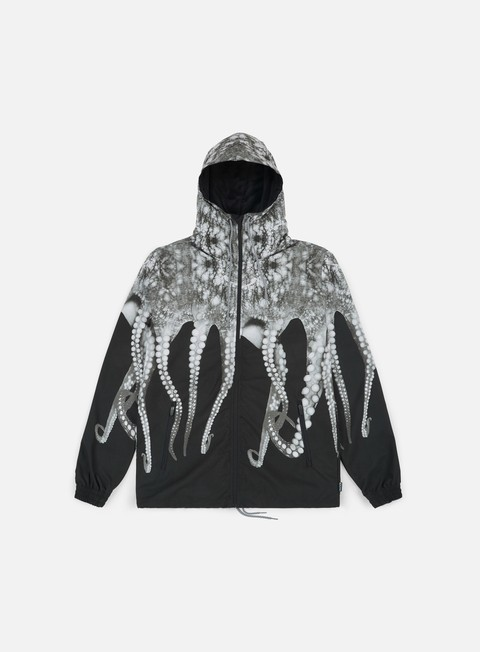giacche octopus octopus windrunner grey striped strings