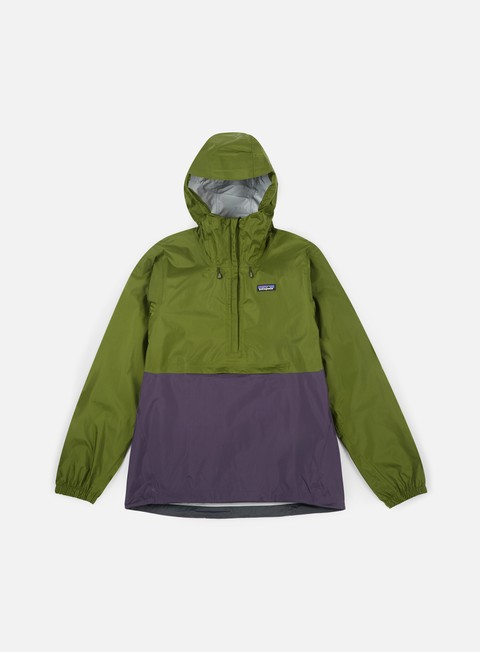 giacche patagonia torrentshell pullover jacket sprouted green