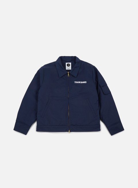 giacche polar skate train banks jacket navy