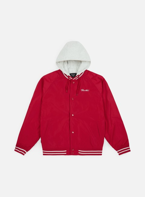 giacche primitive two fer varsity lightweight jacket red