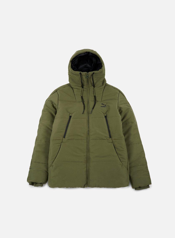 Puma - Archive Logo Padded Jacket, Olive Night