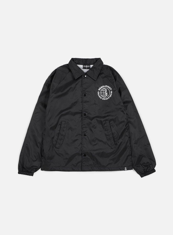 Rebel 8 - Worldwide Distro Coaches Jacket, Black