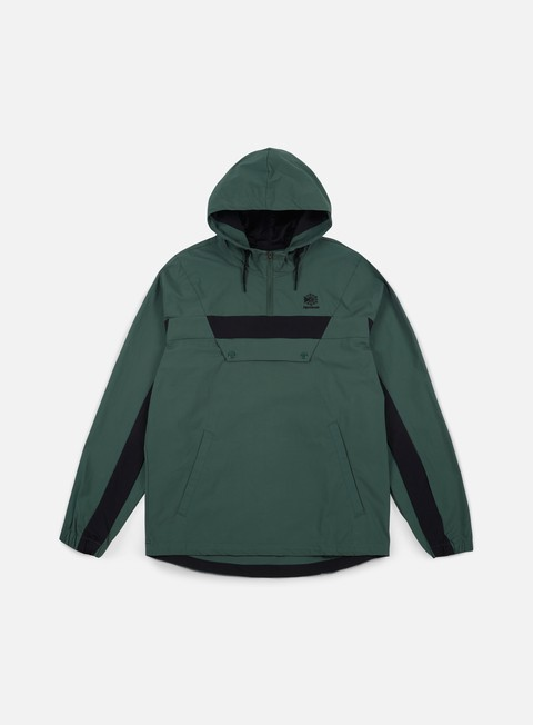 giacche reebok 1 2 zip anorak jacket chalk green