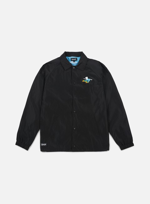 giacche rip n dip catwabunga coach jacket black