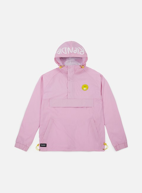 giacche rip n dip everything will be ok anorak jacket pink