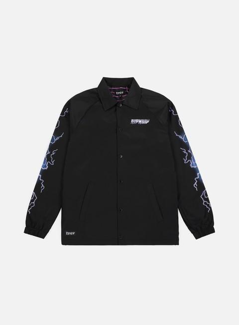 giacche rip n dip rave coach jacket black