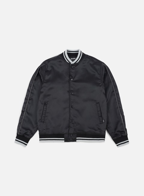 giacche rip n dip share some love satin jacket black