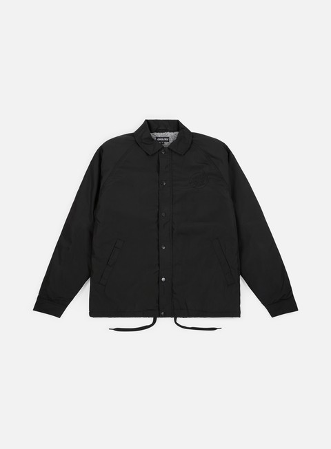 giacche santa cruz blackout coach jacket black