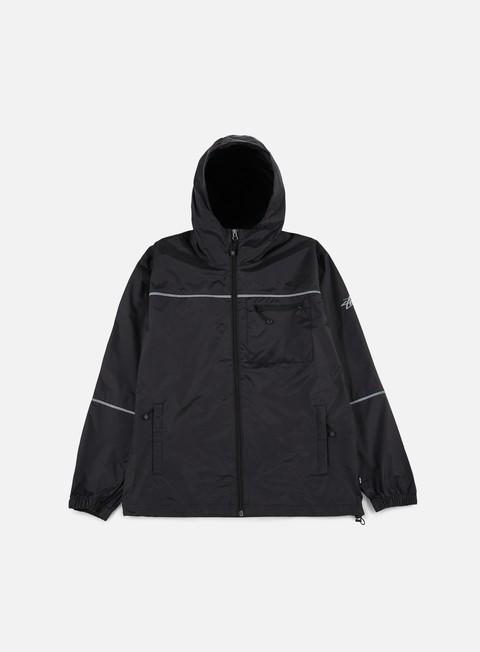 giacche stussy 3m nylon jacket black