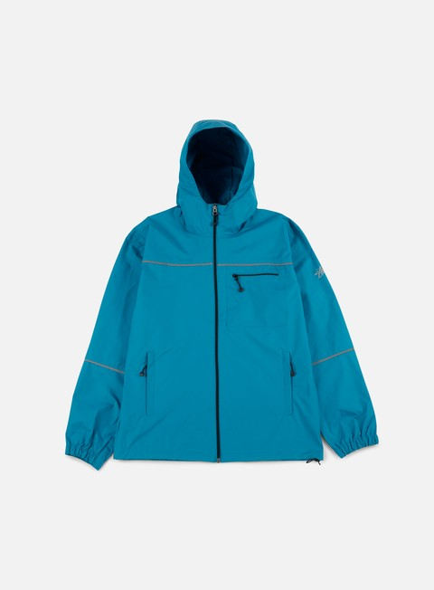 giacche stussy 3m nylon jacket ocean blue