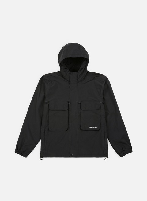 giacche stussy big pocket shell jacket black