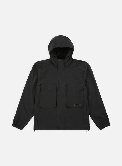 giacche stussy big pocket shell jacket black