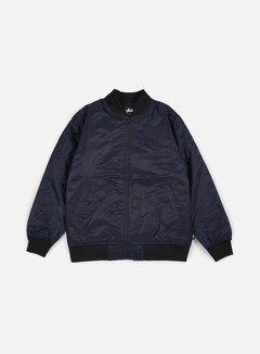 Stussy - Flight Satin Bomber Jacket, Navy 1