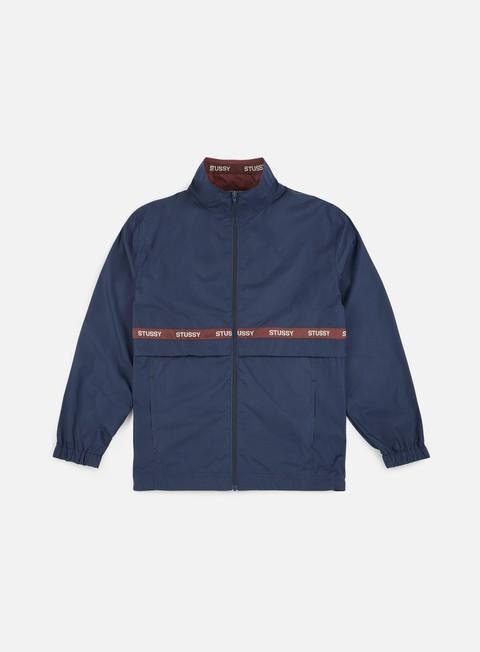 giacche stussy lewis track jacket navy