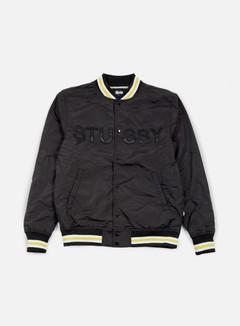 Stussy - Logo Stadium Jacket, Black 1