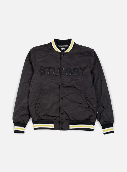 giacche stussy logo stadium jacket black