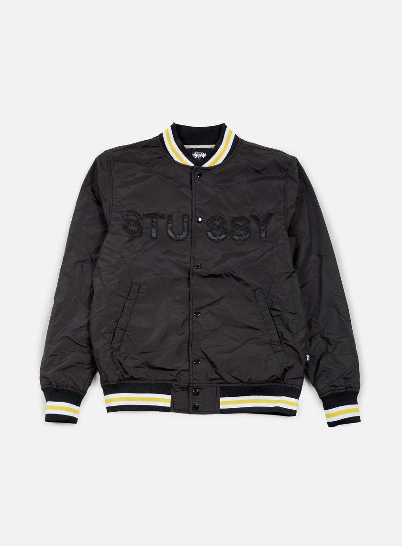 Stussy - Logo Stadium Jacket, Black