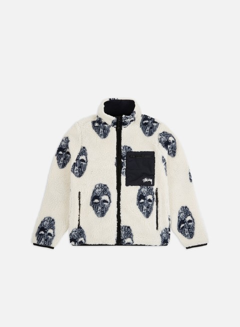 Giacche invernali Stussy Mask Jacquard Sherpa Jacket