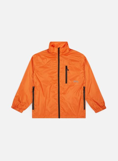 giacche stussy micro rip jacket orange