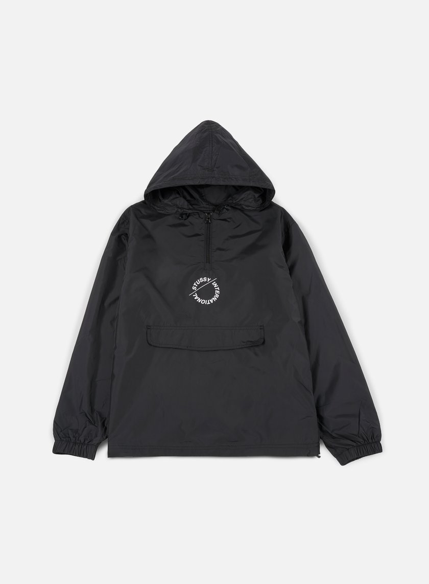 Stussy - Nylon Pop Over Jacket, Black