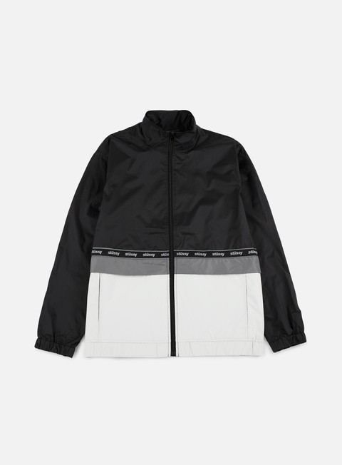 giacche stussy nylon warm up jacket black