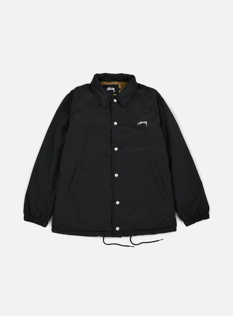 giacche stussy smooth stock coach jacket black