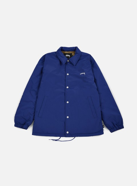 giacche stussy smooth stock coach jacket navy