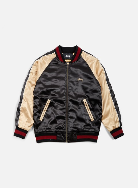 giacche stussy souviner tour jacket black