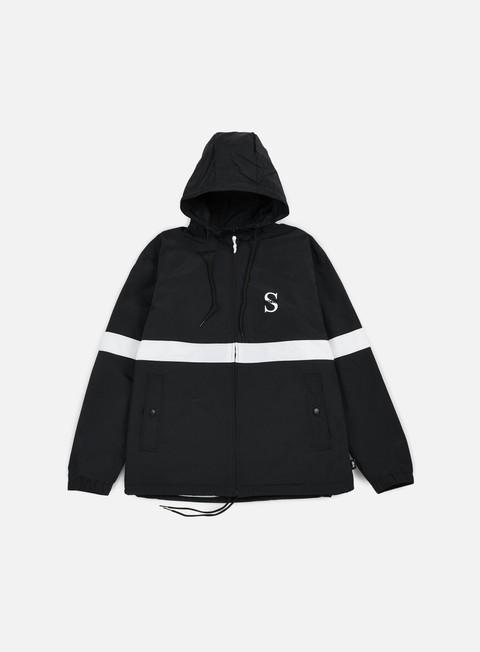 giacche stussy sport nylon jacket black