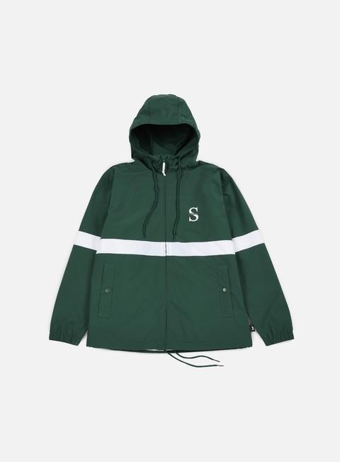 giacche stussy sport nylon jacket forest