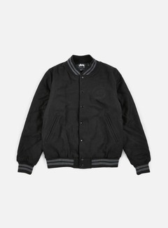 Stussy - Stock Varsity Jacket, Black