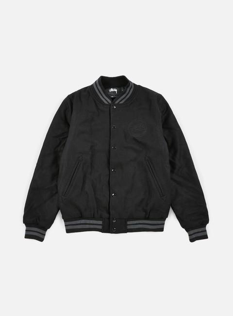 giacche stussy stock varsity jacket black