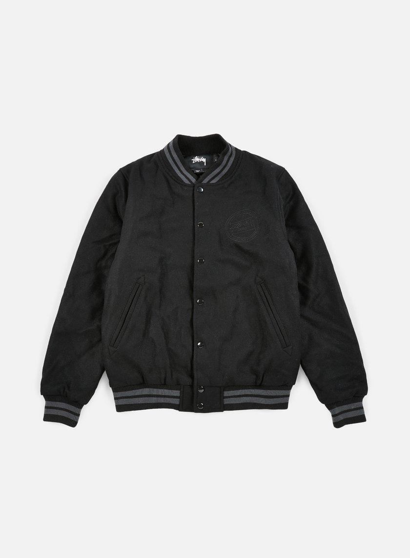 Stussy - Stock Varsity Jacket, Black