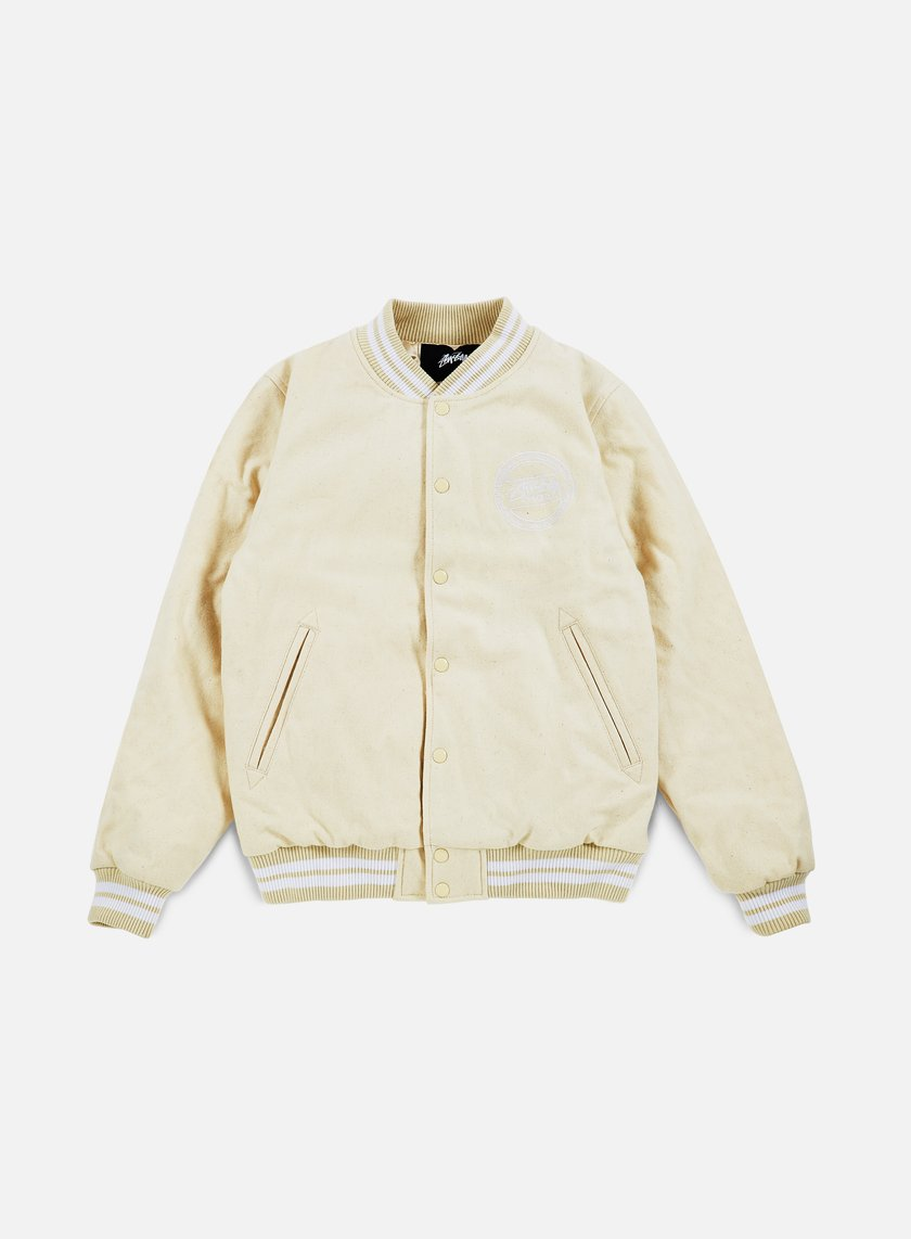 Stussy - Stock Varsity Jacket, Off White