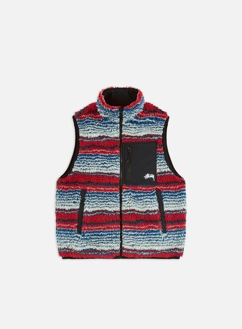 Giacche Intermedie Stussy Striped Sherpa Vest