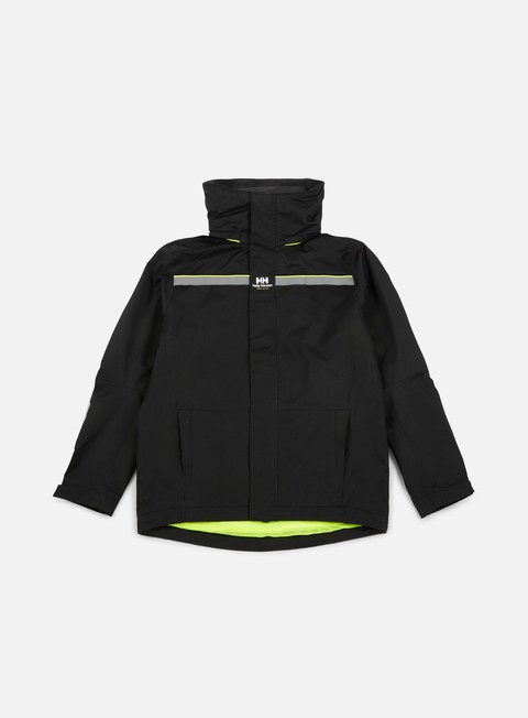 giacche sweet sktbs x helly hansen sweet hh sailing jacket black neon yellow