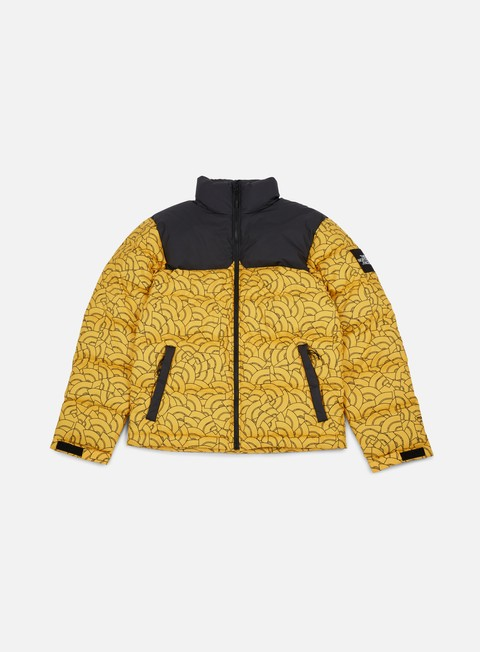 giacche the north face 1992 nuptse jacket tnf yellow dome print
