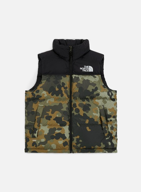 giacche the north face 1996 seasonl nuptse vest new taupe green macrofleck print