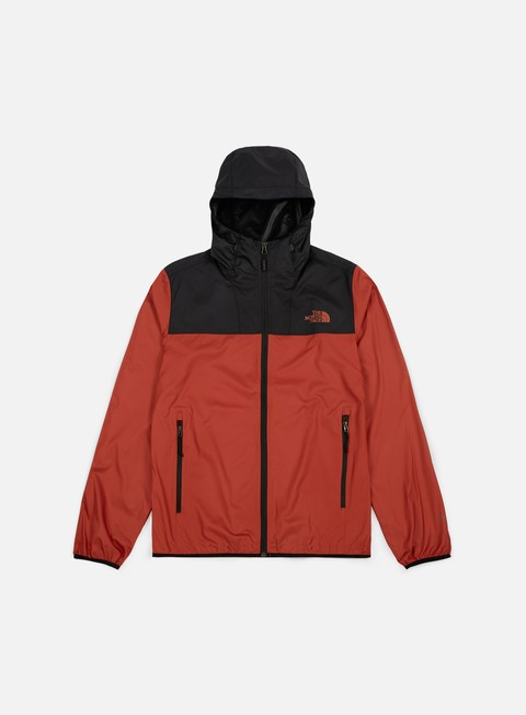 giacche the north face cyclone 2 hooded jacket bossa nova red