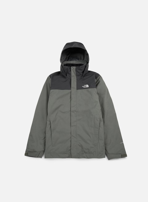 giacche the north face evolve ii triclimate jacket fusebox grey asphalt grey