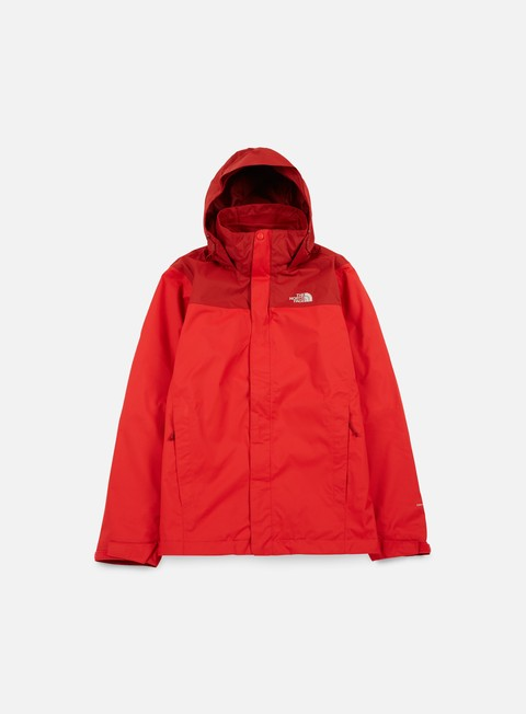 giacche the north face evolve ii triclimate jacket tnf red cardinal red