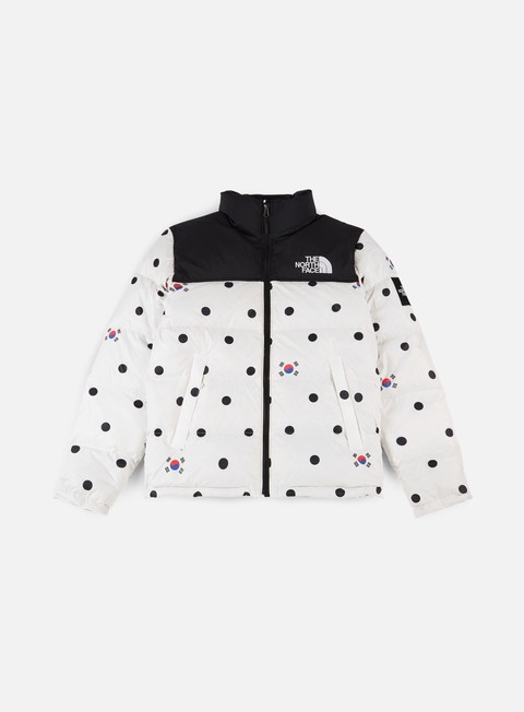 giacche the north face international nuptse jacket vapour grey dot print