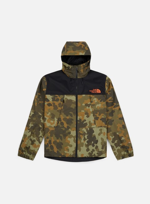 giacche the north face mountain q jacket new taupe green macrofleck print