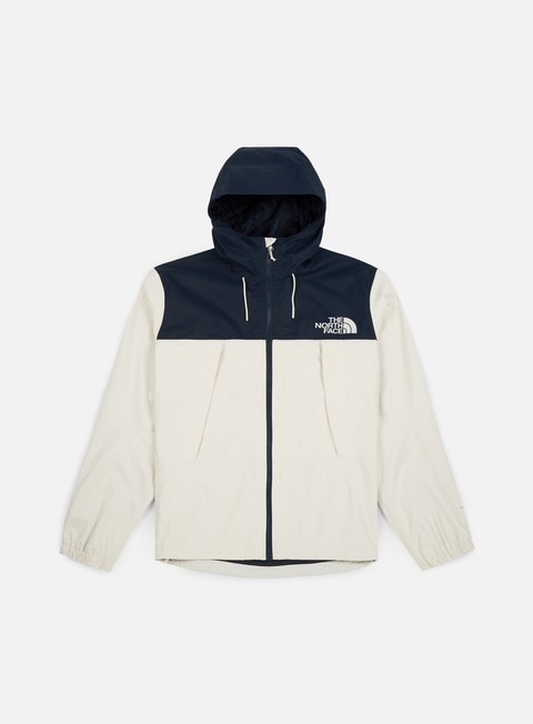 giacche the north face mountain q jacket vintage white urban navy