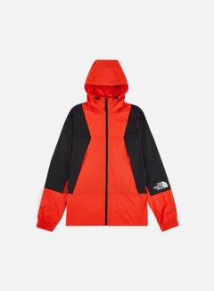 The North Face - Mtn Light Windshell Jacket, Fiery Red/TNF Black