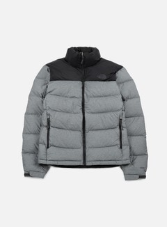 The North Face - Nuptse 2 Jacket, TNF Medium Grey Heather/TNF Black