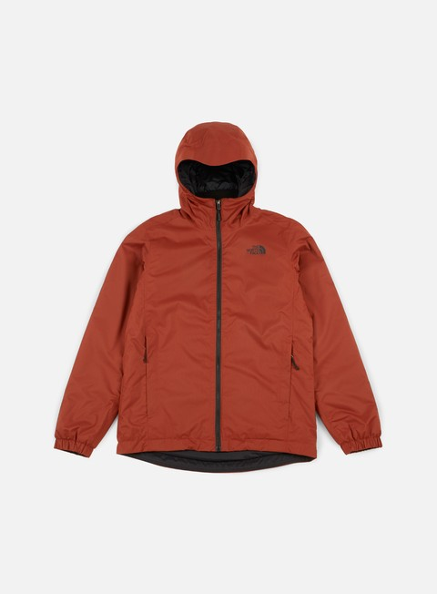 giacche the north face quest insulated jacket brandy brown