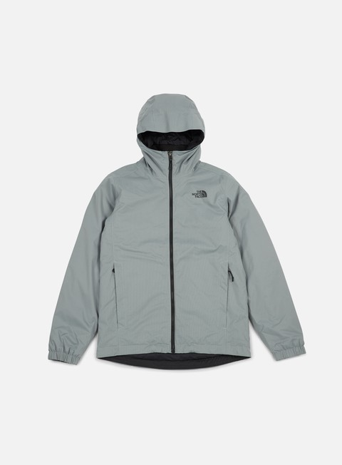 giacche the north face quest insulated jacket monument grey black heather