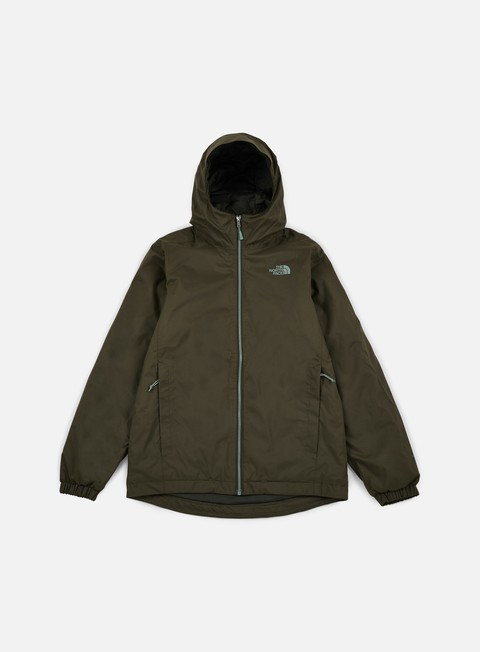 giacche the north face quest insulated jacket rosin green